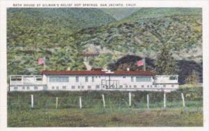 California San Jacinto Bath House At Gilman's Relief Hot Springs