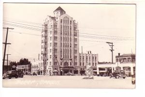 Real Photo, Downtown, 30's Cars, Baker, Ohio