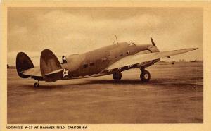 Lockheed A-29 Hudson Bomber Hammer Army Air Field Fresno California postcard