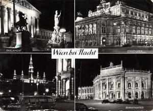 Wien bei Nacht, Parlament, Rathaus Burgtheater, Staatsoper Town Hall