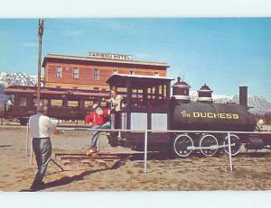 Unused Pre-1980 STEAM TRAIN AT CARIBOU HOTEL Carcross - Near Whitehorse YT B0732