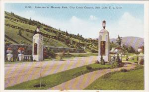 Entrance To Memory Park City Creek Canyon Salt Lake City Utah