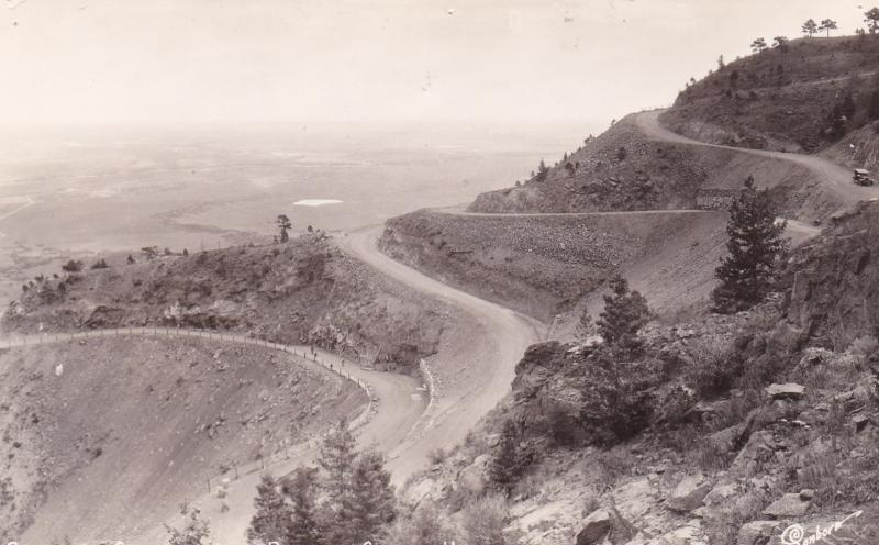 RP: Switchbacks on Broadmor-Cheyenne Highway , Colorado , 30-40s ; SABORN S-1046