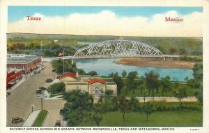 Brownsville Texas~Downtown~Gateway Bridge to Matamoros Mexico~Rio Grande~1931
