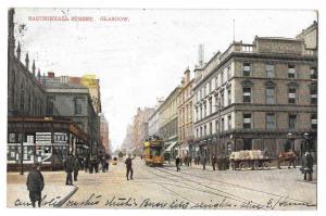 Scotland Glasgow Sauchiehall Street Vintage 1908 Postcard