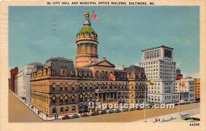 City Hall & Municipal Office Building Baltimore MD 1949