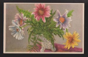 General Greetings - Flowers In Vase Dutch Card - Used 1951