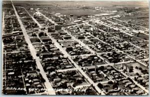 Harlingen, Texas RPPC Photo Postcard AIRPLANE VIEW c1940s Unused