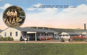 Headquarters and Hospital Bldgs at Camp Whitside Fort Riley, KS USA Military ...