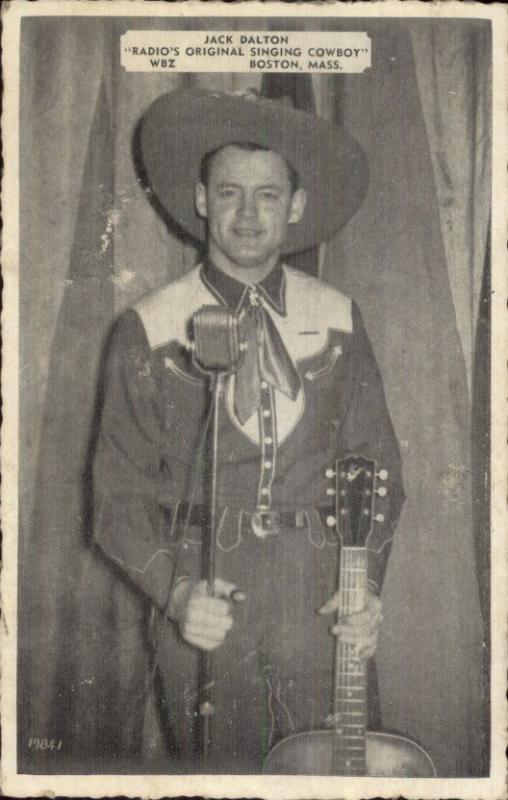 WBZ Radio Boston Singing Cowboy Jack Dalton w/ Guitar