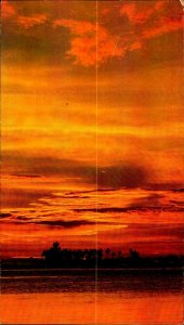 CE0853 tahiti french polynesia bora bora motu tapu pacific ocean sunset