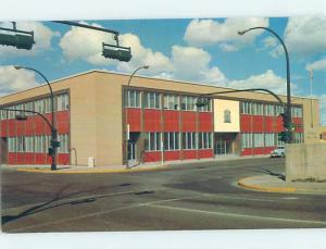 Unused Pre-1980 POST OFFICE SCENE Medicine Hat Alberta AB d8591