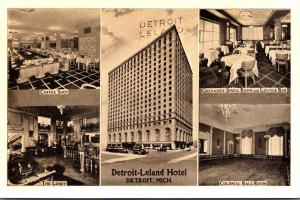 Michigan Detroit The Detroit-Leyland Hotel Lobby Coffee Shop Ball Room & Dini...
