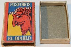 Fosforos El Diablo Bon Bril Dura mucho mas. Matchbox
