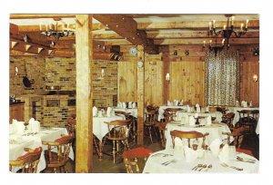 ME Brunswick Stowe House Dining Room Maine Restaurant Vintage Postcard