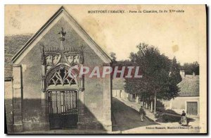 Old Postcard Montfort l'Amaury Gate CEMETERY end of the century XV