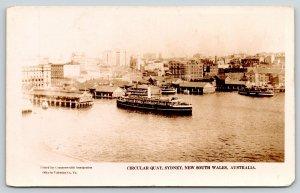 Sydney New South Wales Australia~Circular Quay~American Fleet Visit~1925 RPPC
