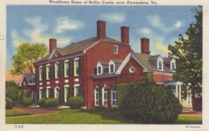Woodlawn Home of Nellie Custis - Alexandria VA, Virginia - pm 1952 - Linen