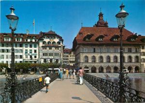 Switzerland Suisse Luzern Partie an der Reuss