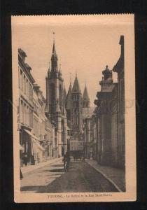 060221 BELGIUM Tournai Le Beffroi et la Rue Saint Mar