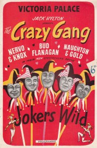The Crazy Gang Jokers Wild Musical Victoria Palace Theatre Programme