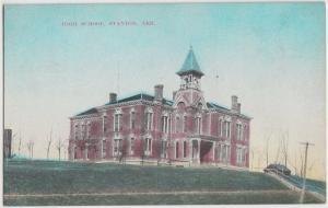 c1910 STANTON Nebraska Nebr Postcard HIGH SCHOOL County