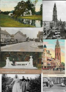 Netherlands Arnhem Groningen Almelo and more with RPPC Postcard Lot of 20 01.08
