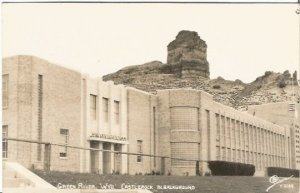 School, Green River Wyoming Castle Rock In Background Real Photograph Vintage
