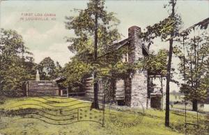 Kentucky Louisville First Log Cabin 1908
