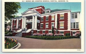 Postcard VA Abingdon George Ben Johnston Memorial Hospital