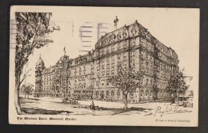 The Windsor Hotel, Montreal, Quebec - Used 1924 - Some Wear