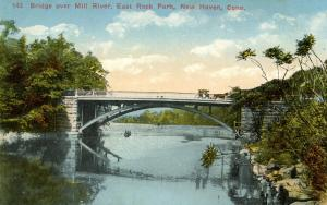 CT - New Haven - East Rock Park, Bridge Over Mill River
