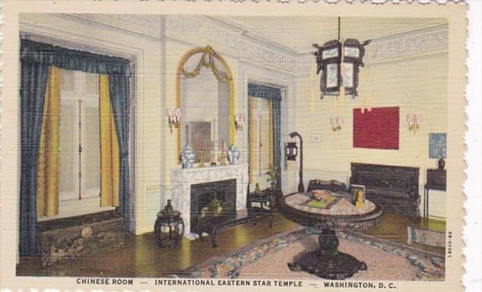Washington D C Chinese Room International Eastern Star Temple Curteich