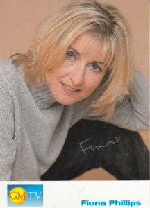 Fiona Phillips GMTV Morning Television Show Hand Signed Photo