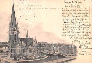 Pauluskirche mti Pauluskirchplatz Plauen Germany Unused