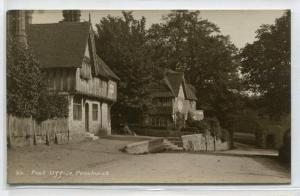 Post Office Street Scene Penshurst Kent England UK RPPC Real Photo postcard