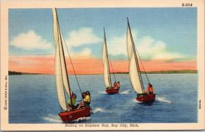 Sailing on Saginaw Bay, Bay City, Michigan
