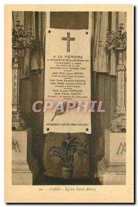 Old Postcard Paris Saint Merry Church