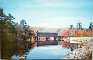 Covered Railroad Bridge, Bennington New Hampshire Monadnock Region postcard