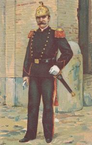 Pompiere Pontificia In Alta Tenuta Italian Military Uniform Army Postcard