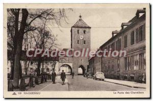 Old Postcard Haguenau La Porte Des Chevaliers
