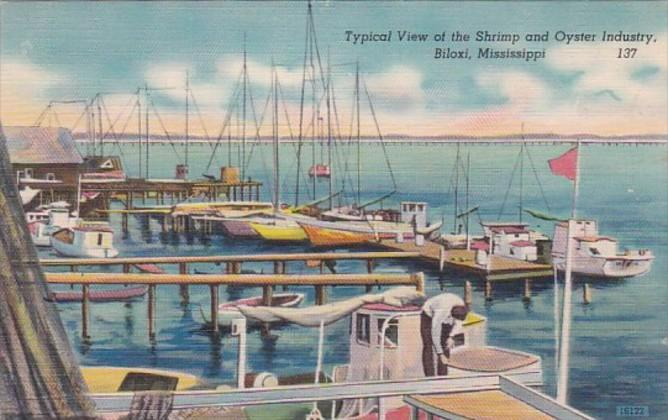 Mississippi Biloxi View Of Shrimp and Oyster Industry