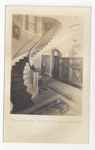 Ellsworth Maine Black House Staircase RPPC Real Photo