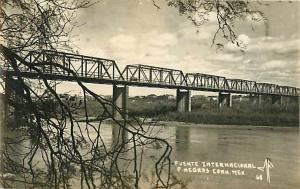 RPPC Puente Internacional. Negres. Coah. Mexico , EKC Sello Real Photo