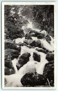 VTG Postcard Lodore Waterfall Mayson's Keswick Cumbria England UK Nature View A4