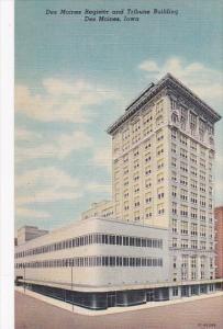 Iowa Des Moines Register and Tribune Building Curteich