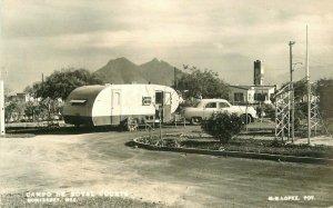Automobile Campo De Hotel Courts RPPC Photo Postcard Lopez 20-1129