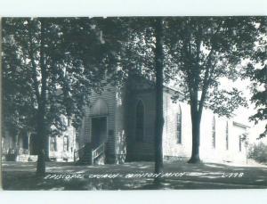 Pre-1950 rppc NICE VIEW Clinton Michigan MI W0023