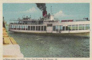 TROIS-RIVIERES, Quebec, Canada, 1930s ; Le Bateau passeur Laviolette - Ferry
