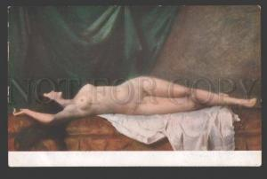 107538 Sleeping NUDE Lady BELLE by ZWILLER Vintage SALON PC